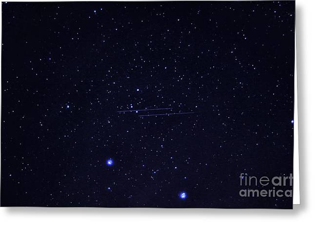 Nikon D800 Greeting Cards - Meteors and Stars Greeting Card by Thomas R Fletcher