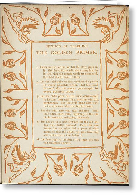 Method Of Teaching The Golden Primer Greeting Card by British Library