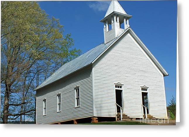 Gatlinburg Tennessee Greeting Cards - Methodist Church in Cades Cove Greeting Card by Roger Potts