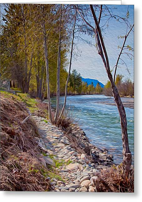 Okanogan National Forest Greeting Cards - Methow River Coming From Mazama Greeting Card by Omaste Witkowski