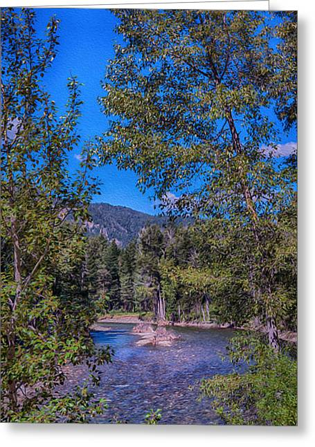 Methow Greeting Cards - Methow River Log Jam Greeting Card by Omaste Witkowski
