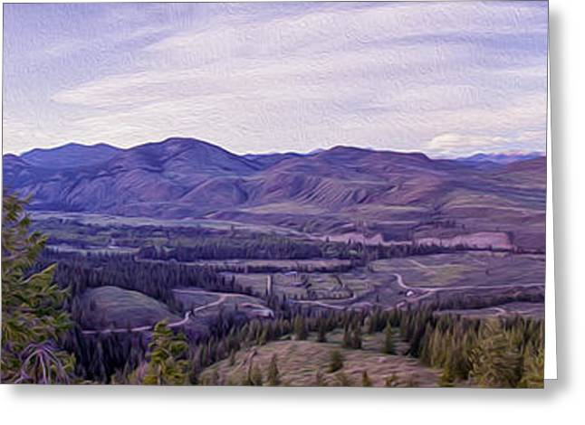 Okanogan National Forest Digital Greeting Cards - Methow River Valley via Sun Mtn Lodge Greeting Card by Omaste Witkowski