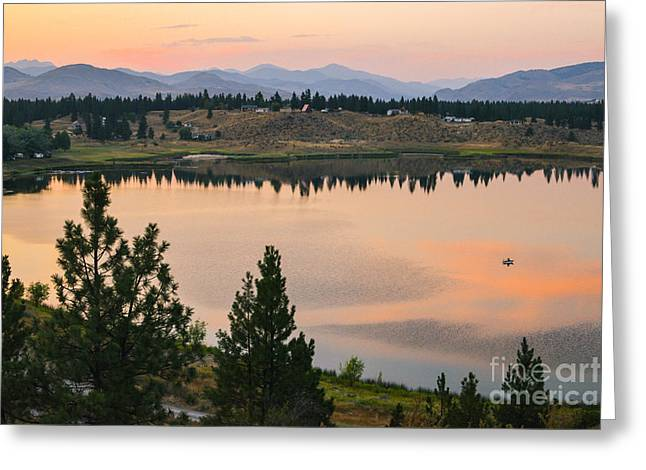 Methow Greeting Cards - Methow Valley Sunset Greeting Card by Lidija Kamansky