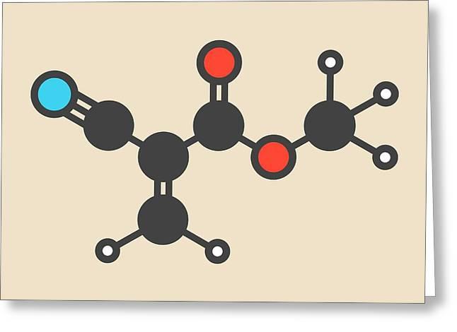 Methyl Cyanoacrylate Molecule Greeting Card by Molekuul