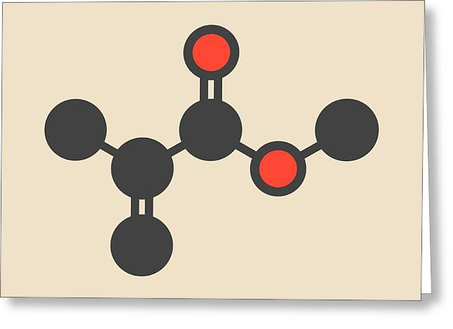Methyl Methacrylate Molecule Greeting Card by Molekuul