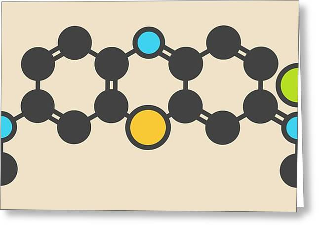 Methylene Blue Molecule Greeting Card by Molekuul