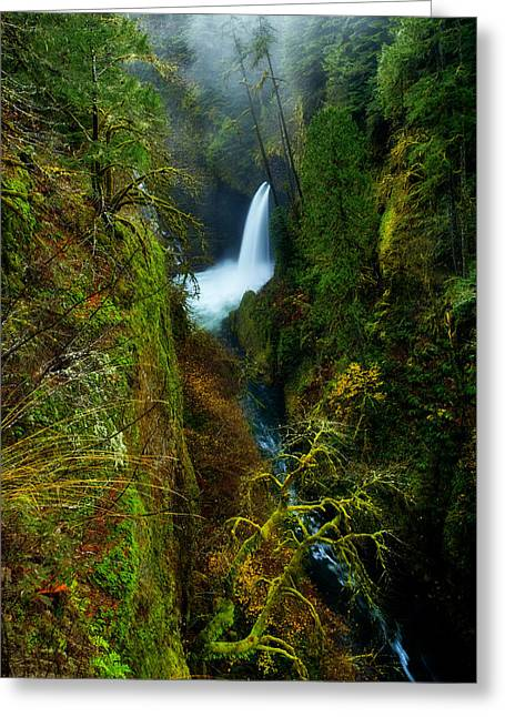 Lush Greeting Cards - Metlako Falls Greeting Card by Darren  White