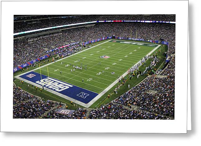 Endzone Greeting Cards - MetLife Stadium 3 Greeting Card by Allen Beatty