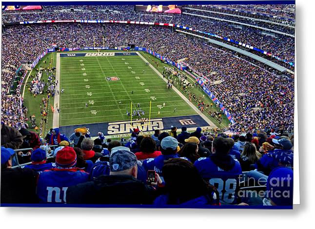 Metlife Stadium Greeting Card by Gary Keesler