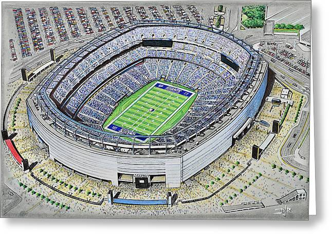 Stadia Greeting Cards - MetLife Stadium - New York Giants Greeting Card by D J Rogers