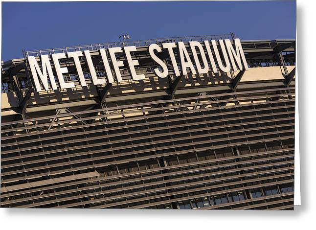 Architecture Greeting Cards - Metlife Stadium Greeting Card by Susan Candelario