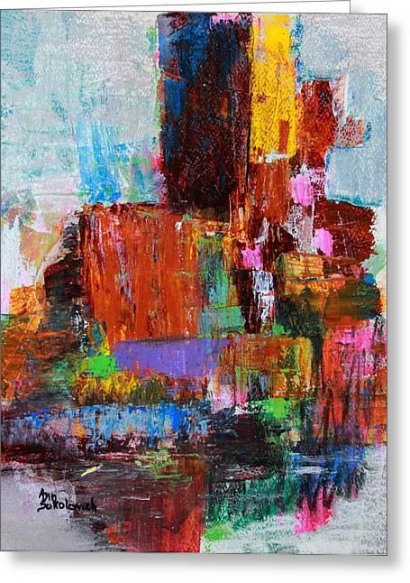 Sokolovich Paintings Greeting Cards - Metro Area Greeting Card by Ann Sokolovich