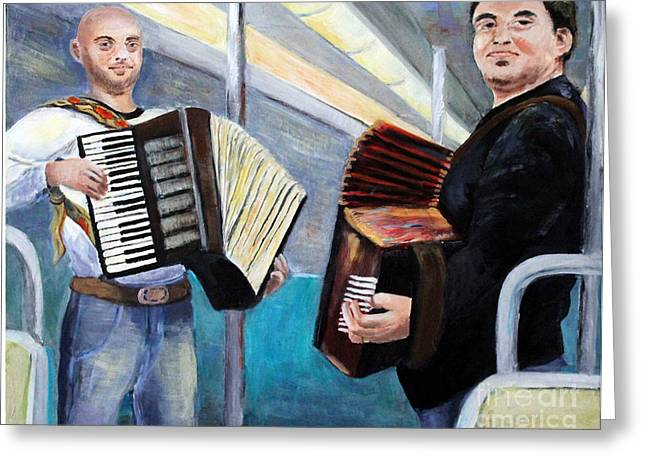Gypsy Greeting Cards - Metro Delight Paris Greeting Card by Linda Queally