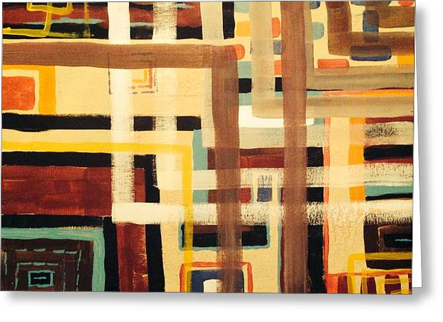 Abstract Digital Paintings Greeting Cards - Metro F-11 Greeting Card by Edward Paul