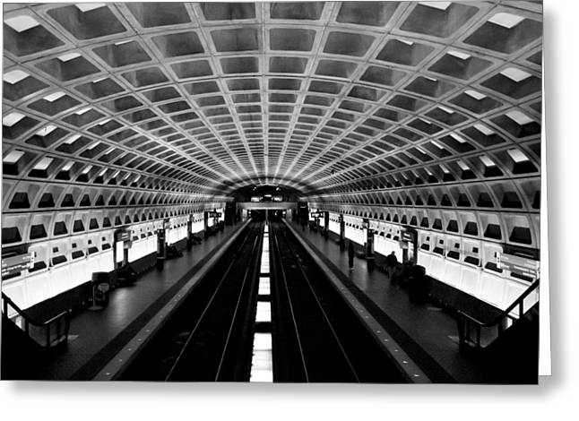 Arlington Photographs Greeting Cards - Metro Greeting Card by Greg Fortier