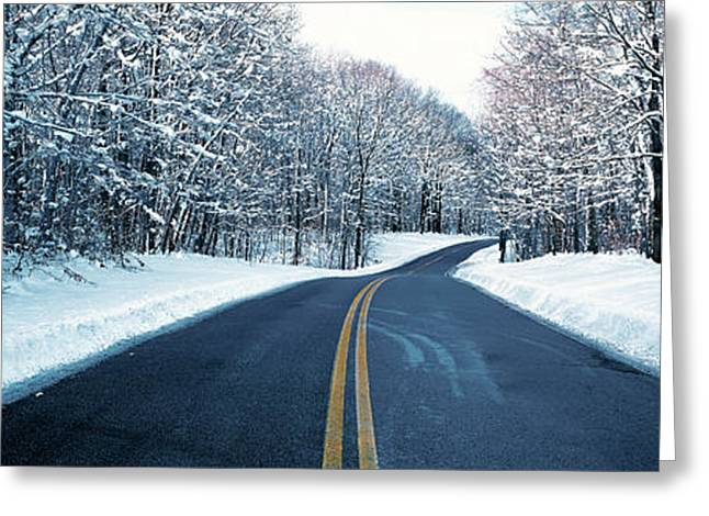 Ohs Greeting Cards - Metro Park Road Oh Usa Greeting Card by Panoramic Images