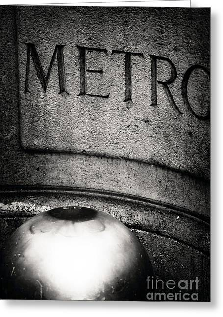 Champs Greeting Cards - Metro Stop Greeting Card by John Rizzuto