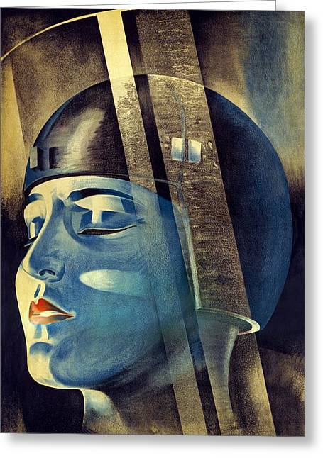 Dystopian Greeting Cards - Metropolis (1927) Greeting Card by Science Photo Library