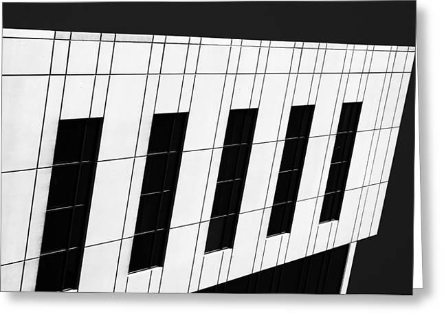 Repetition Greeting Cards - Metropolis BW Greeting Card by Christi Kraft