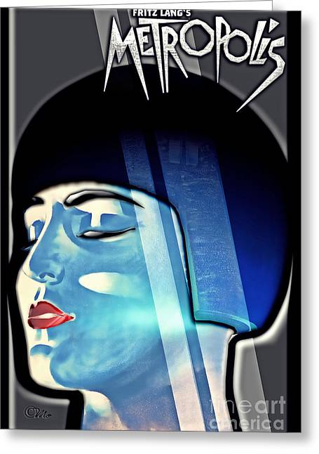 Movie Art Greeting Cards - Metropolis Greeting Card by Mo T