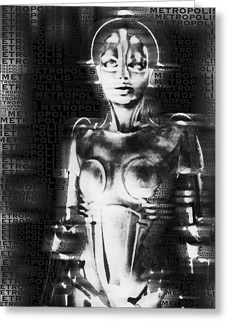 Berlin Mixed Media Greeting Cards - Metropolis The Movie Greeting Card by Tony Rubino
