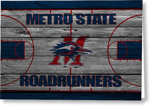 Division Greeting Cards - Metropolitan State Roadrunners Greeting Card by Joe Hamilton