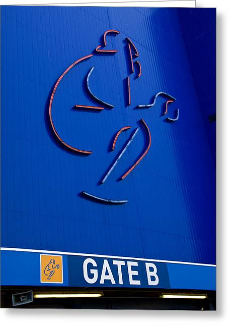 Shea Stadium Greeting Cards - Mets Shea Stadium Gate B Greeting Card by Alida Thorpe