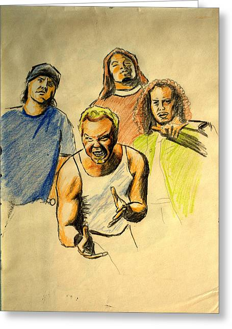 Metallica Drawings Greeting Cards - Mettalica Greeting Card by Salman Ravish