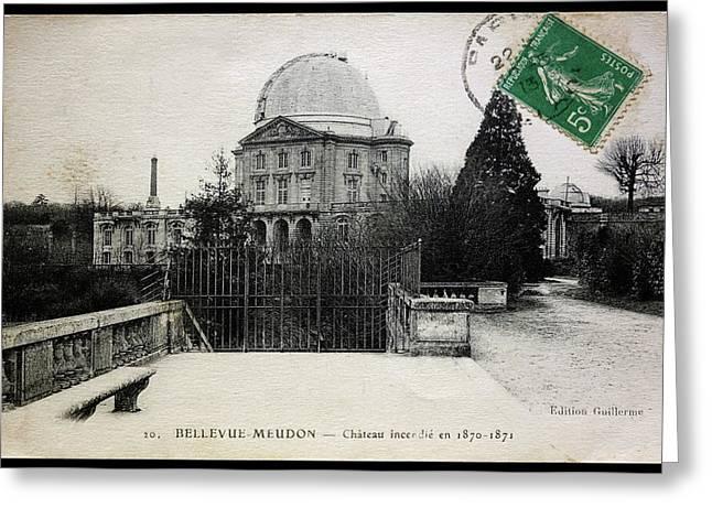 Meudon Grand Lunette Observatory Greeting Card by Detlev Van Ravenswaay