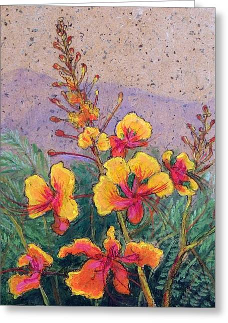 Mexican Flowers Greeting Cards - Mexican Bird of Paradise Greeting Card by Candy Mayer