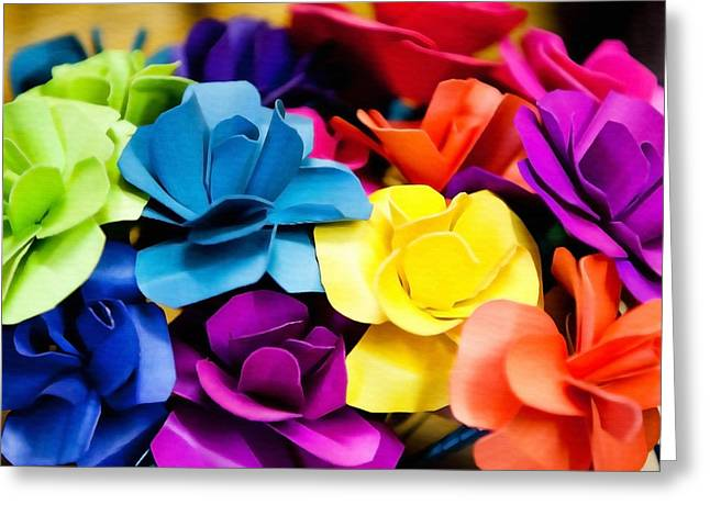 Mexican Flowers Greeting Cards - Mexican Flower Bouquet Greeting Card by Art Block Collections