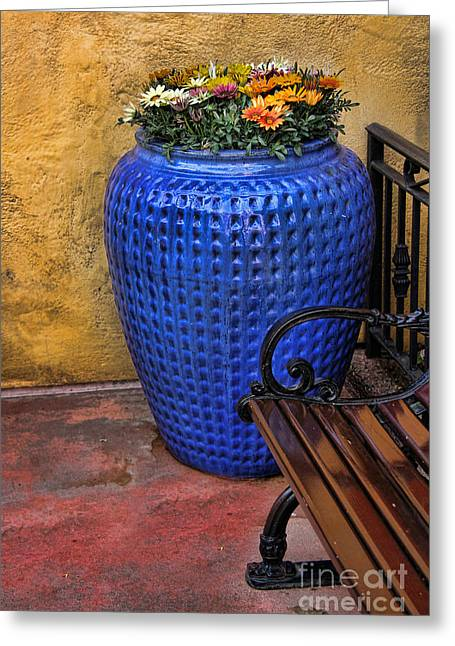 Mexican Flowers Greeting Cards - Mexican Flower Pot Greeting Card by Lee Dos Santos