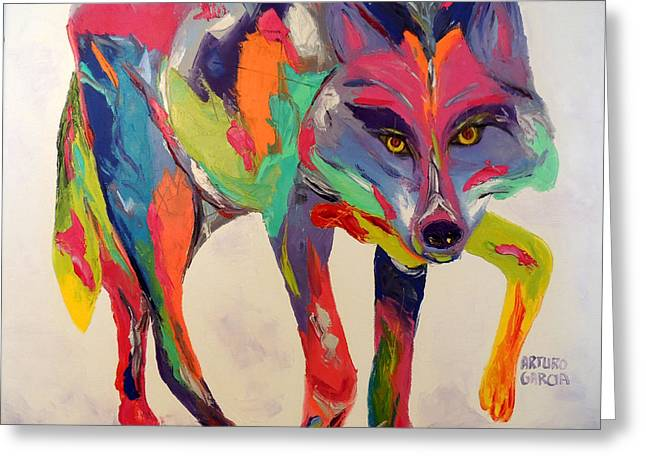 Denver Artist Greeting Cards - Mexican Gray Wolf Greeting Card by Arturo Garcia