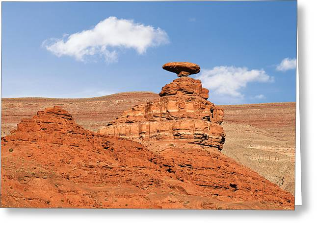 Monolith Greeting Cards - Mexican Hat Rock Greeting Card by Christine Till