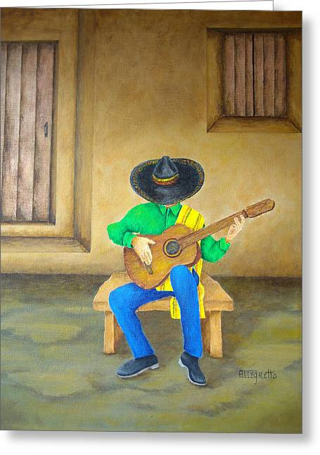 Allegretto Art Greeting Cards - Mexican Serenade Greeting Card by Pamela Allegretto