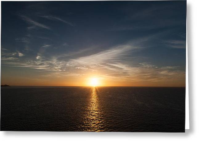Sanity Greeting Cards - Mexican Sunrise Greeting Card by Monte Arnold
