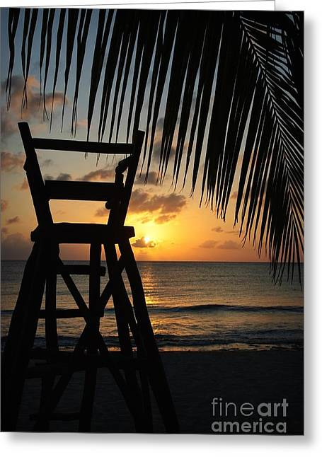 Cozumel Greeting Cards - Mexican Sunset Greeting Card by Charles Dobbs