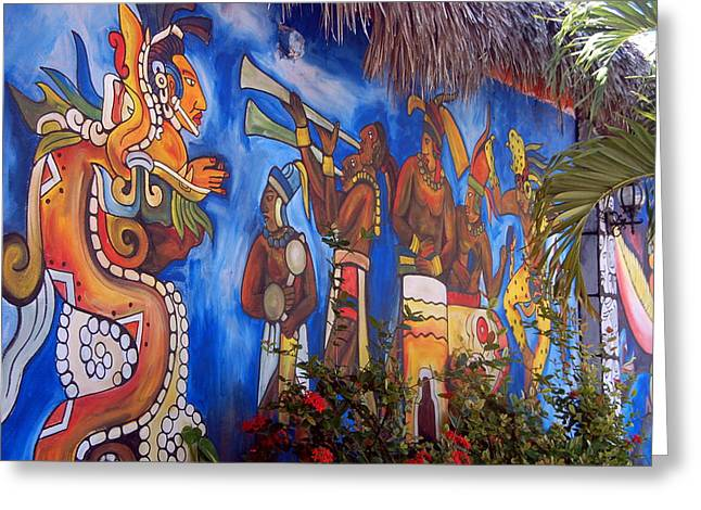 Cancun Greeting Cards - Mexican Wall Art Greeting Card by Jon Berghoff