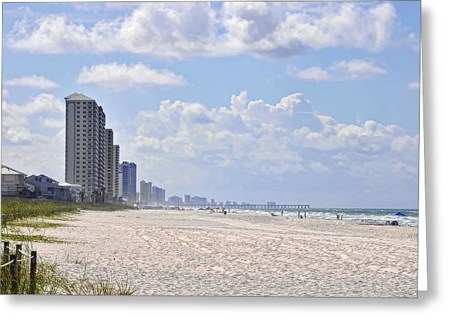 Mexico Beach Coastline Greeting Card by Kenny Francis
