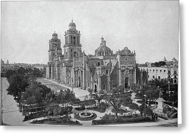 Mexico Cathedral, C1890 Greeting Card by Granger