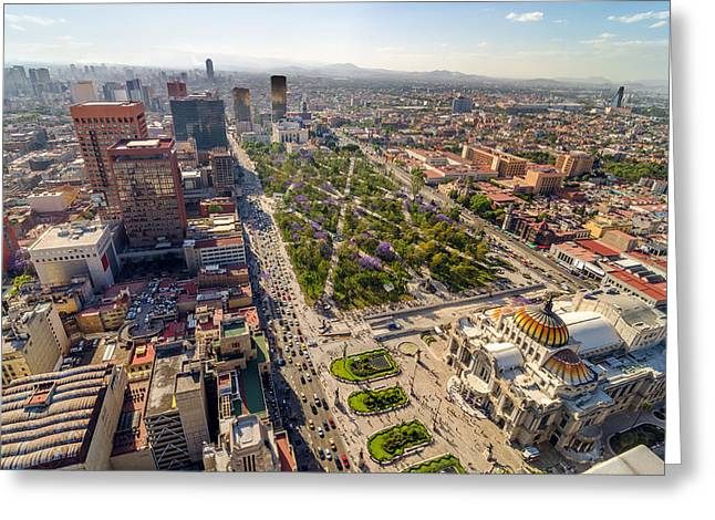 Mexico City Aerial View Greeting Card by Jess Kraft