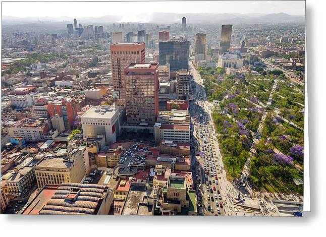 Mexico City Photographs Greeting Cards - Mexico City Cityscape Greeting Card by Jess Kraft