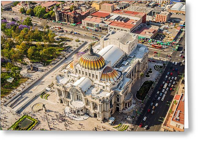 Mexico City Photographs Greeting Cards - Mexico City Fine Arts Museum Greeting Card by Jess Kraft