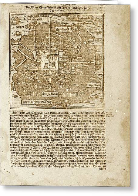 Mexico City Greeting Card by Library Of Congress, Geography And Map Division