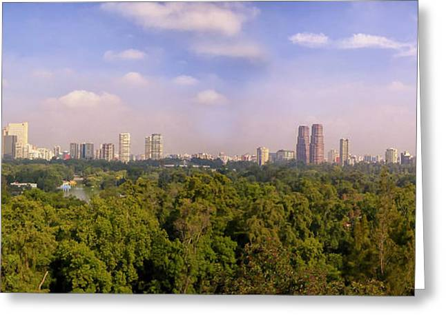 Mexico City Photographs Greeting Cards - Mexico City Skyline Greeting Card by Nomad Art And  Design