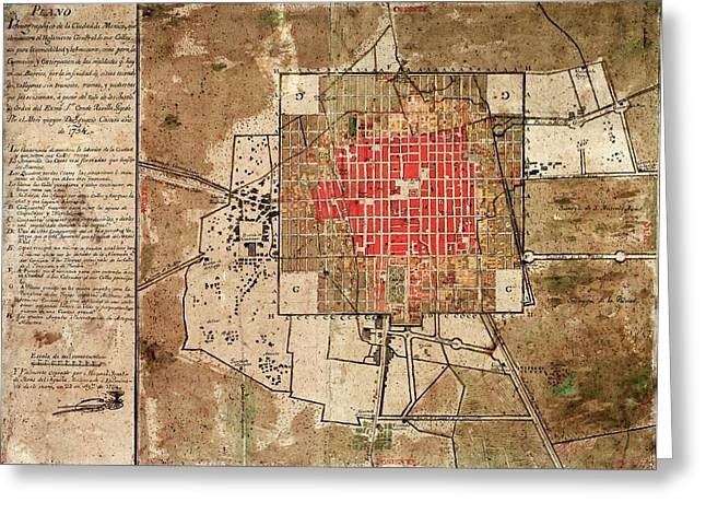 Mexico City Urban Development Greeting Card by Library Of Congress