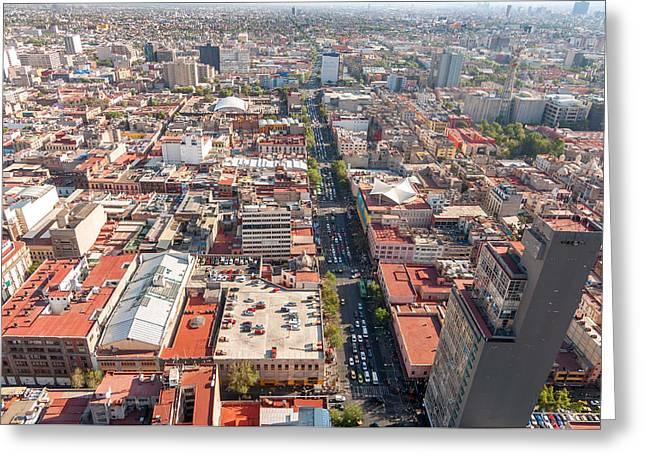Mexico City View Greeting Card by Jess Kraft