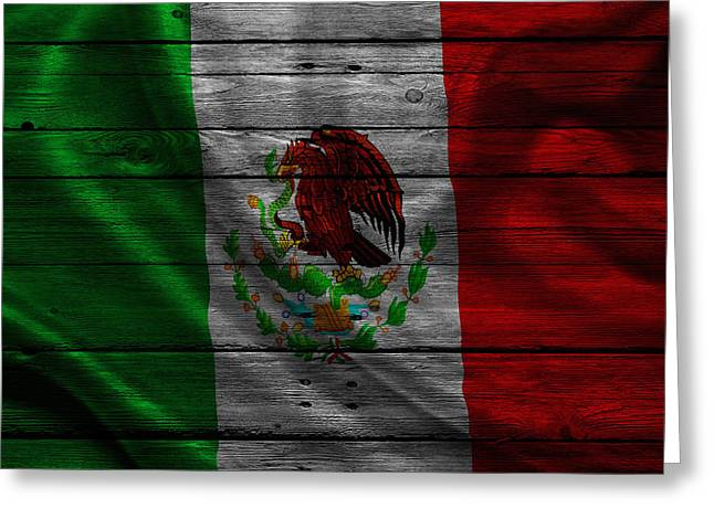 Flag Pole Greeting Cards - Mexico Greeting Card by Joe Hamilton
