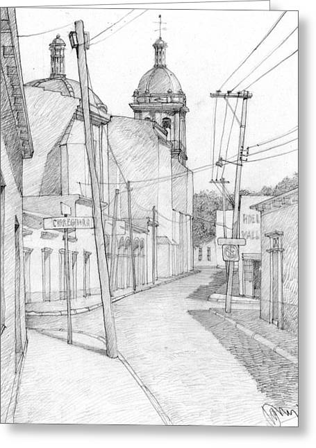 Mexicano Greeting Cards - Mexico. Small Town Greeting Card by Serge Yudin