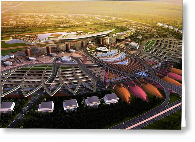 Photographs Digital Art Greeting Cards - Meydan Dubai Greeting Card by Gianfranco Weiss